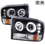 Spec-D Ford F250 Projector Headlight Led; 1999-2004