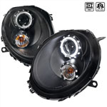Spec-D Tuning Mini Cooper Black Housing Projector Headlights; 2007-2012