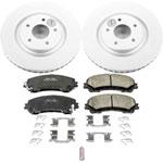 Power Stop 14-19 Nissan Rogue Front Z17 Evolution Geomet Coated Brake Kit; 2014-2019