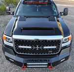 RKSport GMC Sierra HD Ram Air Hood; 2015-2017