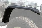Iron Cross Jeep Wrangler JK Fender Flare Set - Rear - Matte Black; 2007-2018