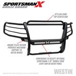 Westin 15-20 Chevy Suburban/Tahoe Sportsman X Grille Guard - Textured Black; 2015-2020