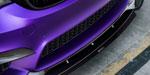 Vorsteiner 2014+ BMW M3/M4 (F8X) VRS GTS-V Front Add On Spoiler Carbon Fiber PP 2x2 Glossy; 2014-2020