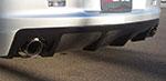 RKSport Camaro Rear Dual Exhaust Filler - Carbon Fiber; 2010-2012