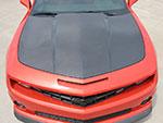 RKSport Camaro V8 Carbon Fiber Hood; 2010-2013