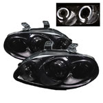Spyder Honda Civic 96-98 Halo Projector Headlights - Smoke
