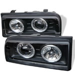 Spyder Volkswagen Corrado 90-94 Halo Projector Headlights - Black