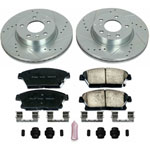 Power Stop 13-18 Cadillac ATS Front Z23 Evolution Sport Brake Kit; 2013-2018