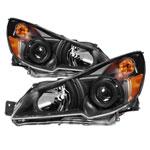 xTune Subaru Legacy 10-12 / Outback 10-12 OEM Style Headlights-Black HD-JH-SLEG10-AM-BK; 2010-2012