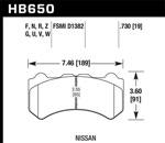 Hawk DTC-80 09-11 Nissan GT-R Motorsports Front Brake Pads; 1980-2009