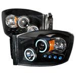 Spec-D Dodge Ram Ccfl Projector Headlights; 2006-2008