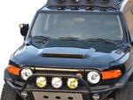 RKSport Toyota FJ Cruiser Hood with Ram Air Scoop & Heat Extraction Vents; 2007-2014