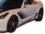RKSport Corvette C7 Stingray Rocker Panels - Fiberglass; 2014-2019
