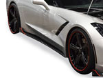 RKSport Corvette C7 Stingray Rocker Panels - Carbon Fiber; 2014-2019