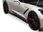 RKSport Corvette C7 Stingray Rocker Panels - Carbon Fiber; 2014-2019