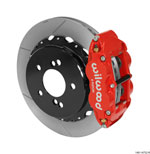 Wilwood Narrow Superlite 4R Rear Kit 12.88in Slotted Red 00-06 BMW M3 E46; 2000-2006