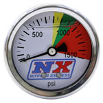 Nitrous Express Nitrous Pressure Gauge Only (0-1500 PSI); 0-0
