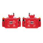 Power Stop 08-17 Mitsubishi Lancer Front Red Calipers w/Brackets - Pair; 2008-2017
