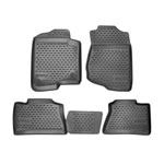 Westin 2005-2015 Hummer H3 Profile Floor Liners 4pc - Black; 2005-2015