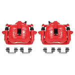 Power Stop 07-16 Mini Cooper Front Red Calipers w/Brackets - Pair; 2007-2016