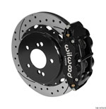 Wilwood Narrow Superlite 4R Rear Kit 12.88in Drilled/Slotted Black 00-06 BMW M3 E46; 2000-2006