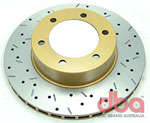 DBA 7/96+Toyota Landcruiser 90 Series Front Drilled & Slotted 4000 Series Rotor; 1996-2020