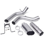 Banks Power 17+ GM Duramax L5P 2500/3500 Monster Exhaust System - SS Single Exhaust w/ Chrome Tip; 2017-2020