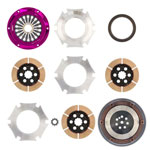 Exedy Hyper Triple Cerametallic Clutch Kit MITSUBISHI LANCER L4 2; From 8/96 Prod.; Rigid Disc; Pull Type; 1996-1996