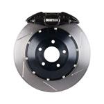 StopTech Infiniti G35 Big Brake Kit ST-22 Black Calipers & 2-Piece No Coating Slotted Rotors, Rear; 2005-2008