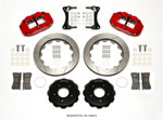 Wilwood Narrow Superlite 4R Front Hat Kit 12.88in Red 2007-Up Jeep Wrangler; 2007-2021