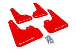 Rally Armor 2010+ Mazda3/Speed3 UR Red Mud Flap w/ White Logo; 2010-2021