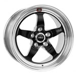 Weld S71 17x11 / 5x4.75 BP / 7.7in. BS Black Wheel (High Pad) - Non-Beadlock for Corvette Z06; 2006-2013