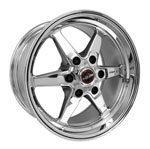 Race Star 93 Truck Star 15x10.00 6x5.50bc 6.63bs Direct Drill Chrome Wheel; 0-0