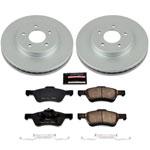 Power Stop 05-10 Ford Escape Front Z17 Evolution Geomet Coated Brake Kit; 2005-2010