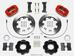Wilwood Forged Dynalite Front Hat Kit 12.19in Red 2016-Up Mazda MX5 Miata w/ Lines; 2016-2021