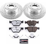 Power Stop 09-16 BMW Z4 Front Z26 Street Warrior Brake Kit; 2009-2016