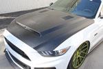 Anderson Composites Mustang Fiberglass Hood Super Snake; 2015-2017