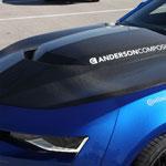 Anderson Composites Camaro Carbon Fiber Hood Type-Az; 2016-2018