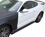 Anderson Composites Mustang Rocker Panel Splitter Fiberglass GT350 Style; 2015-2017