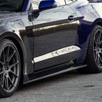Anderson Composites Mustang Carbon Fiber Rocker Panel Splitter GT350 Style; 2015-2018