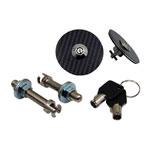 xTune Carbon Fiber Hood Pin W/ Key; 2000-2013