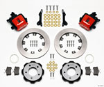Wilwood Combination Parking Brake Rear Kit 12.19in Red 2006-Up Civic / CRZ; 2006-2021