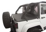 Rampage 2007-2018 Jeep Wrangler(JK) Unlimited 4-Door Trailview Tonneau Top - Black Diamond; 2007-2018