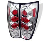 Spyder Chevrolet Avalanche Altezza Tail Lights - Chrome - (ALT-YD-CAV04-C); 2002-2006