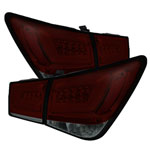 Spyder Chevy Cruze Cruze Limited Light Bar LED Tail Lights - Red Smoke - (ALT-YD-CCRZ11-LBLED-RS); 2011-2016