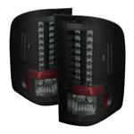 Spyder GMC Sierra 3500HD Dually Models LED Tail Lights - Black Smoke - (ALT-YD-CS07-LED-BSM); 2007-2014