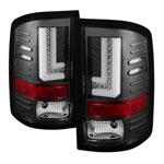 Spyder GMC Sierra 1500 LED Tail Lights - Black - (ALT-YD-GS14-LBLED-BK); 2014-2016