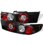 Spyder Honda Accord 4Dr Altezza Tail Lights - Black - (ALT-YD-HA03-4D-BK); 2003-2005