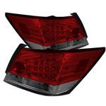 Spyder Honda Accord 4DR LED Tail Lights - Red Smoke - (ALT-YD-HA08-4D-LED-RS); 2008-2012