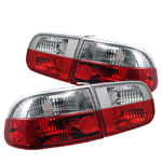 Spyder Honda Civic 92-95 2/4dr Crystal Tail Lights - Red Clear